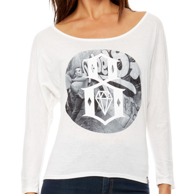 REBEL8 Girl Longsleeve Shirt SMASH THE STATE white