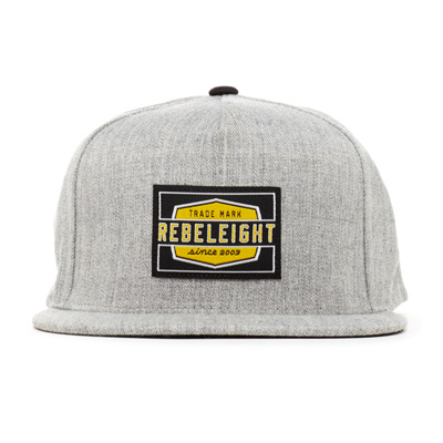 REBEL8 Snap Back Cap WORK BADGE heather grey