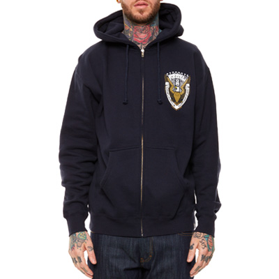 REBEL8 Hooded Zipper WORLDWIDE DOMINATION navy