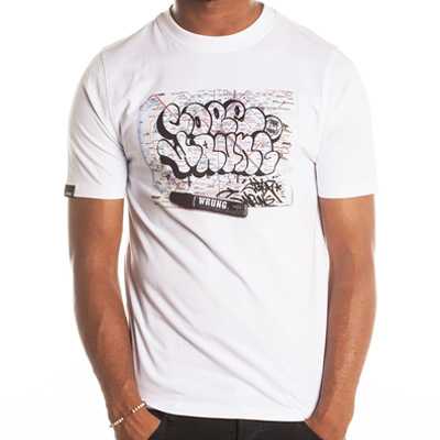 WRUNG T-Shirt COPE2 MAP white