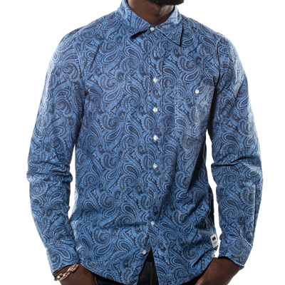 WRUNG Hemd THE DON blue paisley