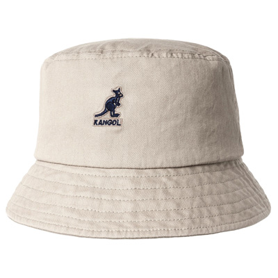 KANGOL Bucket Hat WASHED COTTON khaki