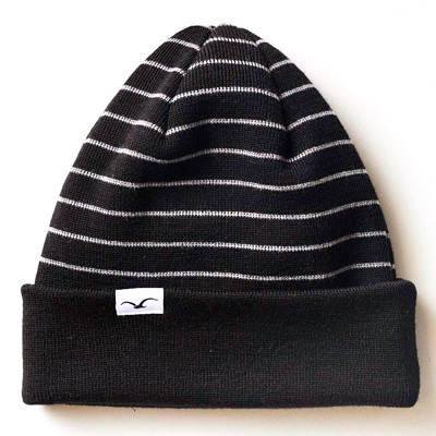 CLEPTOMANICX Beanie WIND STRIPE black