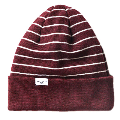 CLEPTOMANICX Beanie WIND STRIPE windsor wine