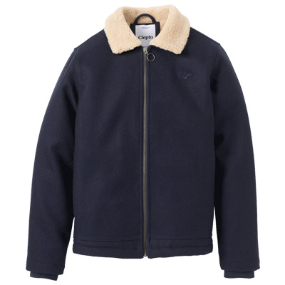 CLEPTOMANICX Jacket DECKHAND WOOL dark navy