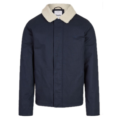 CLEPTOMANICX Winter Jacket GOOD THOUGHTS dark navy