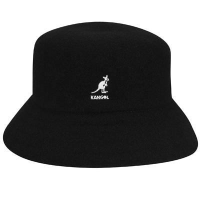 Kangol Headwear - KANGOL Bucket Hat WOOL LAHINCH black - Bucket Hats ... c4cbaf3312a