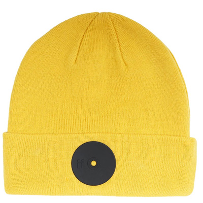 MR. SERIOUS Beanie YELLOW FAT yellow/black