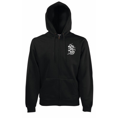 ON THE RUN Hooded Zipper OTR TAG black