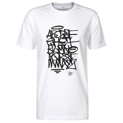EIGHT MILES HIGH T-Shirt ABC white/black