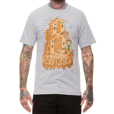 REBEL8 T-Shirt ACOMA heather grey