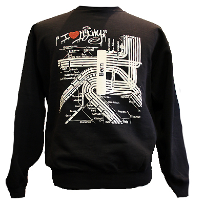 LAYUP X STILLALIVE Sweater MY CITY black