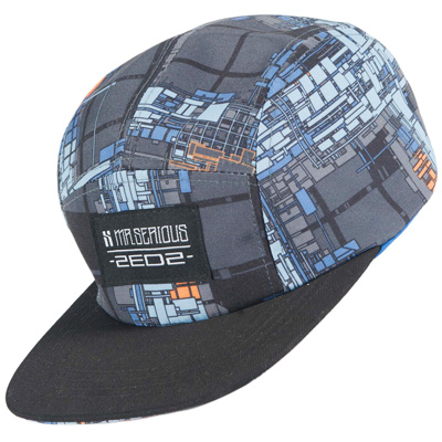 MR. SERIOUS 5Panel Cap ALL OVER ZEDZ blue