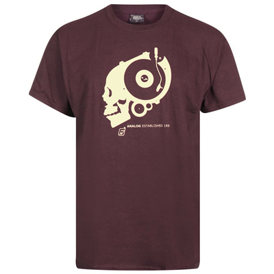 UNDERPRESSURE T-Shirt ANALOG burgundy/cream