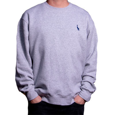 500K Sweater ANTIFA POLO grey/blue