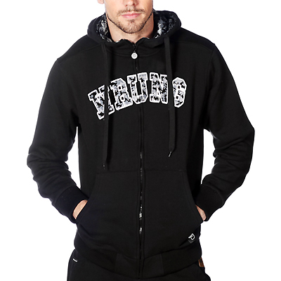 WRUNG Hooded Zipper ARMY black