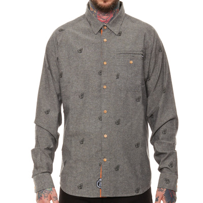 REBEL8 Shirt ARROWHEAD grey chambray