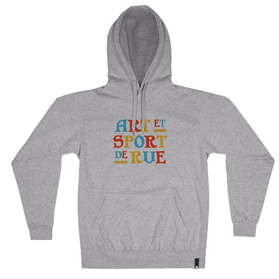 HEROKID Hoody ART ET SPORT DE RUE heather grey