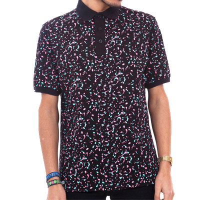 WRUNG Polo Shirt ARTY black