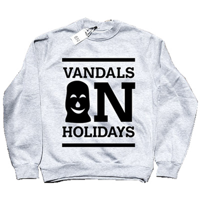VANDALS ON HOLIDAYS Sweater LOGO heather grey
