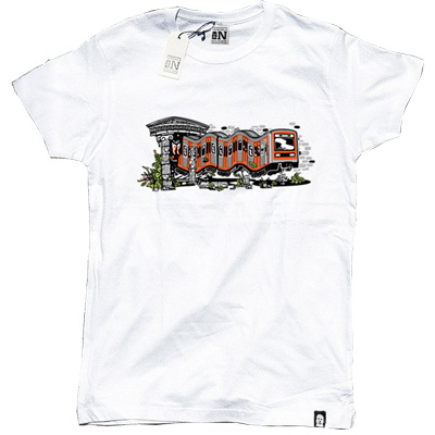VANDALS ON HOLIDAYS T-Shirt ATHENS white
