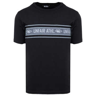 UNFAIR ATHLETICS T-Shirt ATHL STRIPED black/grey