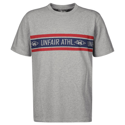 UNFAIR ATHLETICS T-Shirt ATHLETIC STRIPED heather grey