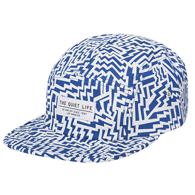 THE QUIET LIFE 5Panel Cap AZTEC blue/white