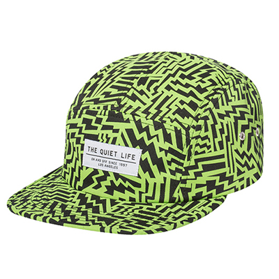 THE QUIET LIFE 5Panel Cap AZTEC lime/black