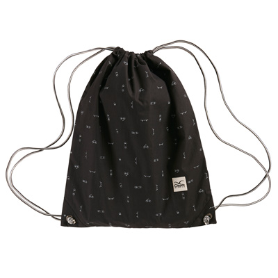 CLEPTOMANICX Gymbag GYM PATTERN black