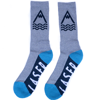 LASER Socks BARCELONETA grey/navy/cyan