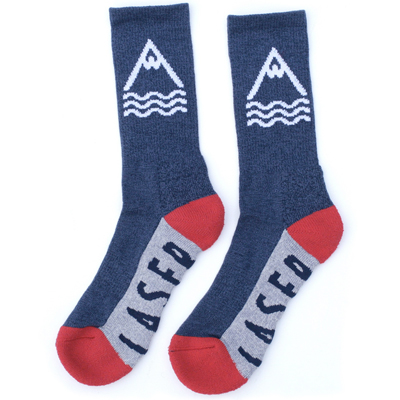 LASER Socken BARCELONETA navy/grey/red