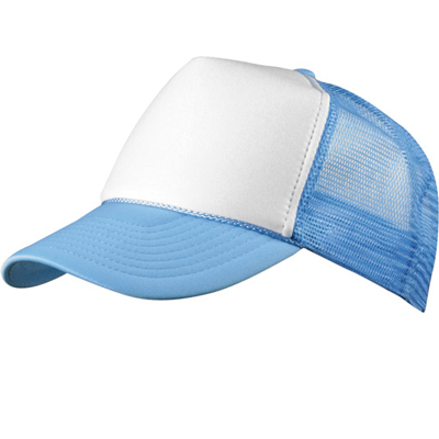 Baseball Trucker Cap skyblue/white
