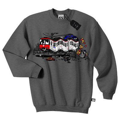 VANDALS ON HOLIDAYS Sweater BARCELONA dark grey