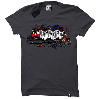VANDALS ON HOLIDAYS T-Shirt BARCELONA dark grey