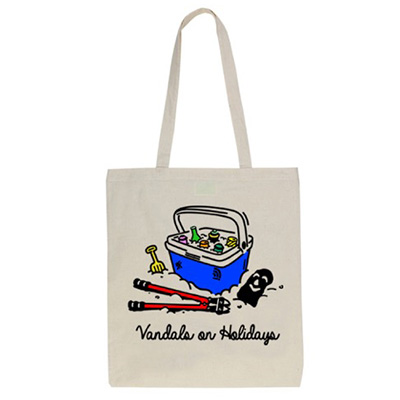 VANDALS ON HOLIDAYS Tote Bag BEACH KIT natural