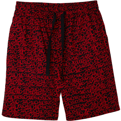 LOUSY LIVIN x 1UP Beach Shorts ONE UP black/red