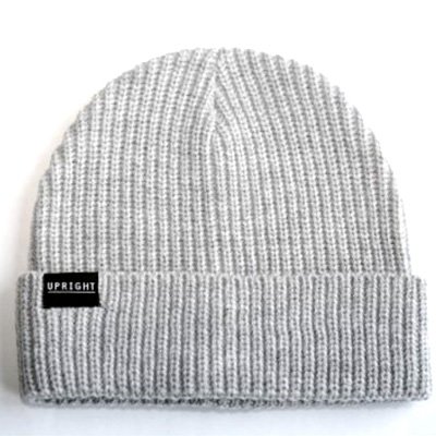 UPRIGHT Beanie LOGO grey