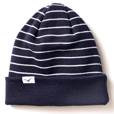 CLEPTOMANICX Beanie WIND STRIPE navy