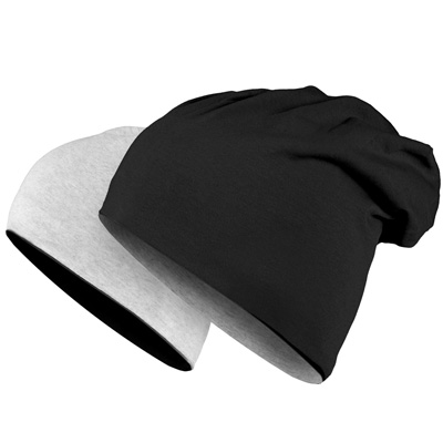 JERSEY Summer Beanie REVERSIBLE black/grey
