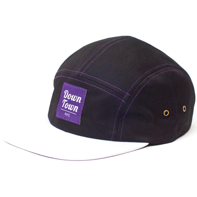 DOWNTOWN NYC 5Panel Cap BERLINESE black/purple