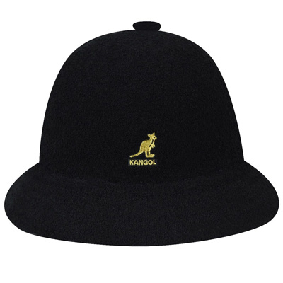 KANGOL Bucket Hat BERMUDA CASUAL black/gold