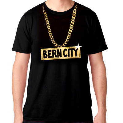 STILLALIVE T-Shirt BERN CITY CHAIN black/gold
