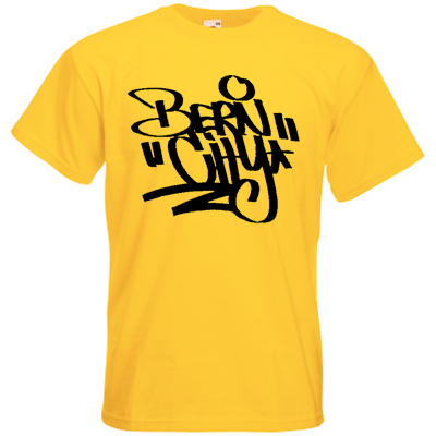 STILLALIVE T-Shirt BERN CITY TAG yellow/black