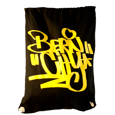 STILLALIVE Turnbeutel BERN CITY TAG black/yellow