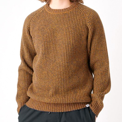CLEPTOMANICX Knit Sweater BIG BEN dark navy/ochre brown