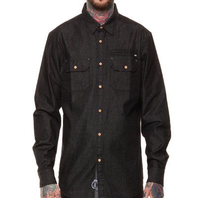 REBEL8 Shirt DENIM black