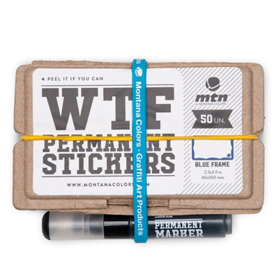 MTN Sticker Pack WTF - Blue Wavy Frame