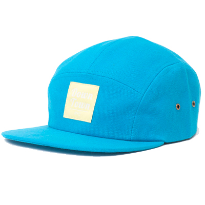 DOWNTOWN NYC 5Panel Cap BLUES blue/yellow