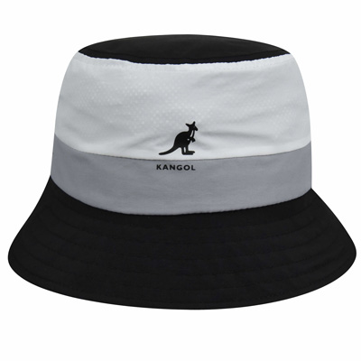 KANGOL Bucket Hat BOLD STRIPE black/grey/white